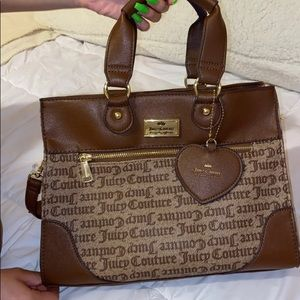 Juicy couture chestnut satchel